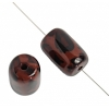 """Resin Capsule 15x25mm 8"""" Str Dalmation (8pcs) Brown/Dark Brown"""